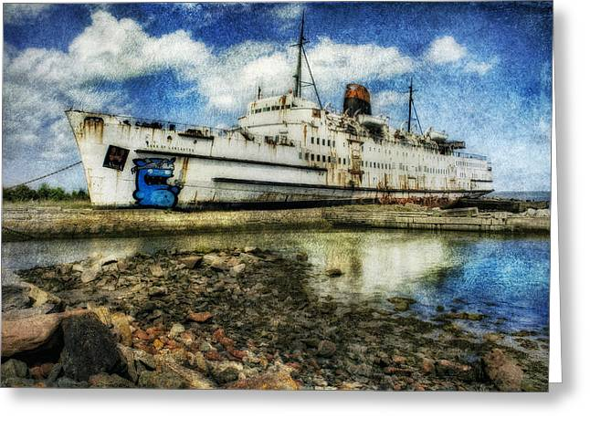 Duke Of Lancaster Greeting Cards - Ghost Ship Greeting Card by Ian Mitchell
