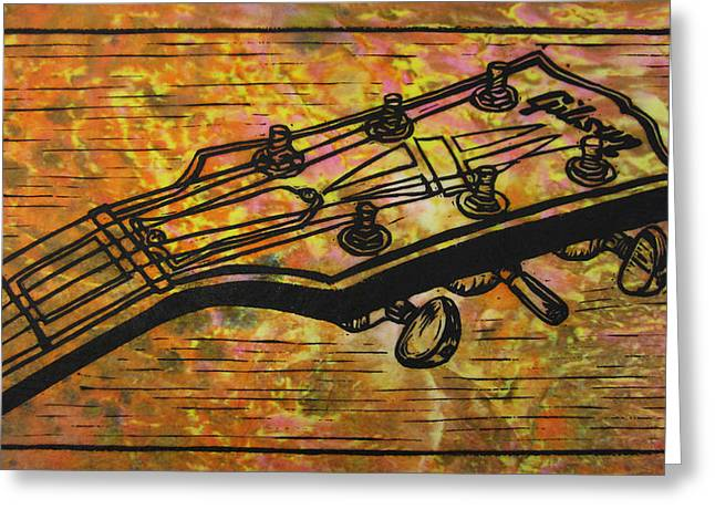Lino Print Greeting Cards - Gibson Greeting Card by William Cauthern