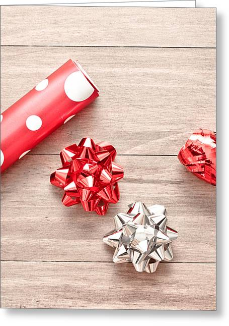 Wrapping Greeting Cards - Gift wrapping Greeting Card by Tom Gowanlock