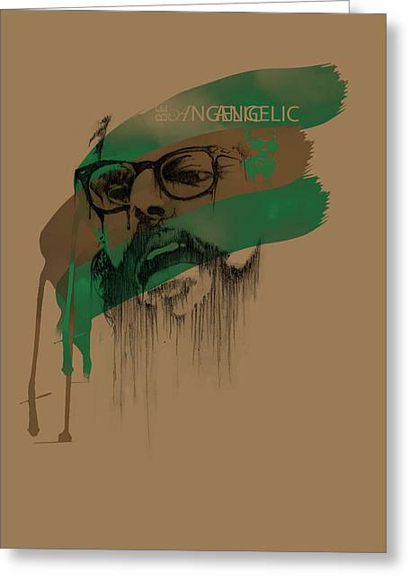 Old Light Greeting Cards - Ginsberg Greeting Card by Pop Culture Prophet