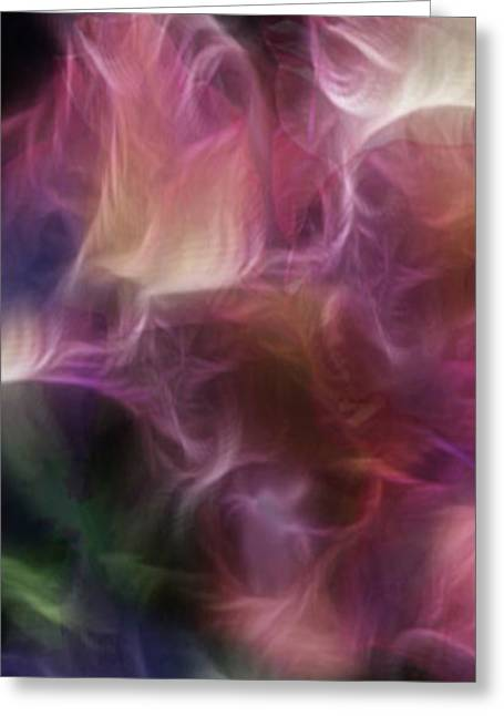 Polyptych Greeting Cards - Gladiola Nebula Triptych Panel 1 Greeting Card by Peter Piatt