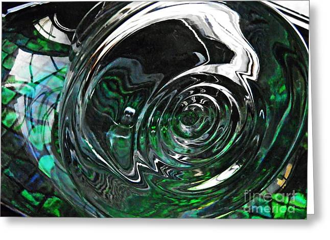 416 Greeting Cards - Glass Abstract 416 Greeting Card by Sarah Loft