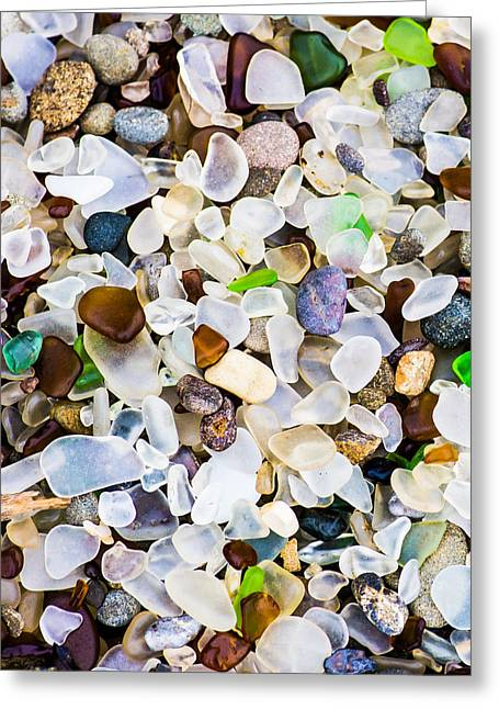 Ghose Greeting Cards - Glass Beach Greeting Card by Priya Ghose