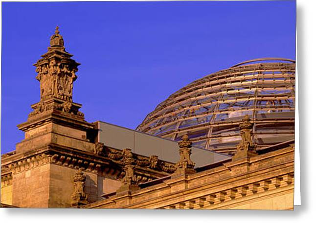 Strength Photographs Greeting Cards - Glass Dome Reichstag Berlin Germany Greeting Card by Panoramic Images