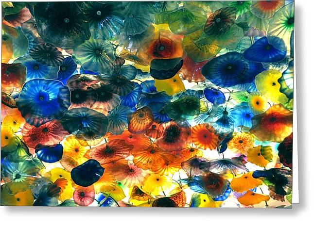 Glass Flowers Greeting Card by Ernesto Cinquepalmi