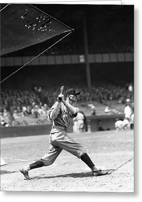 Baseball Game Greeting Cards - Glenn C. Myatt Greeting Card by Retro Images Archive