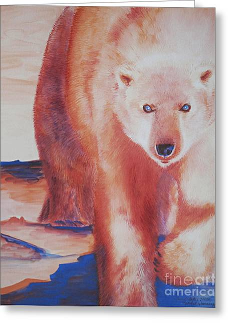 Kodiak Paintings Greeting Cards - Global Warning Greeting Card by Tracy L Teeter