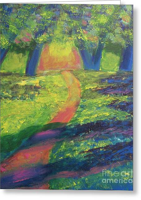 Diana Riukas Greeting Cards - Glowing Path Greeting Card by Diana Riukas