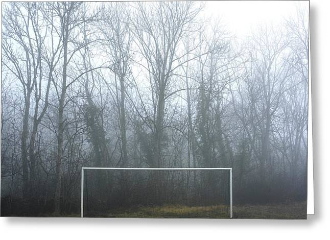 Meshed Photographs Greeting Cards - Goal Greeting Card by Bernard Jaubert