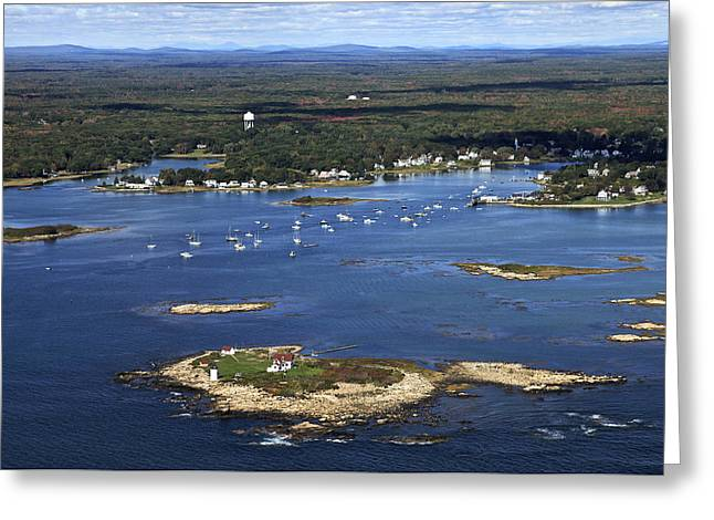 Coastal Maine Greeting Cards - Goat Island Lighthouse, Kennebunkport Greeting Card by Dave Cleaveland
