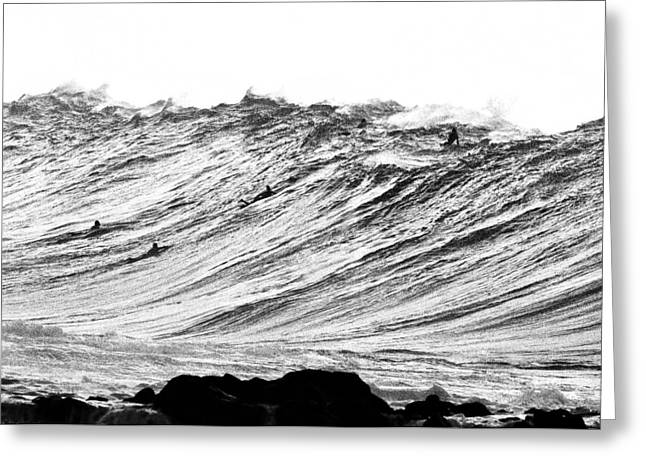 Ocean Energy Greeting Cards - Gold Nugget BW Greeting Card by Sean Davey