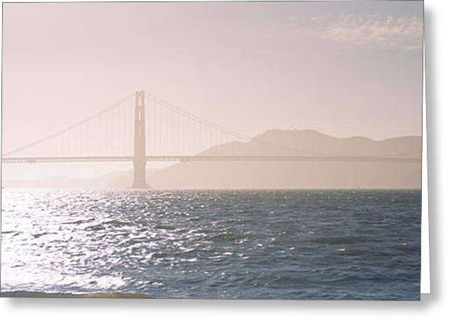 Haze Greeting Cards - Golden Gate Bridge California Usa Greeting Card by Panoramic Images