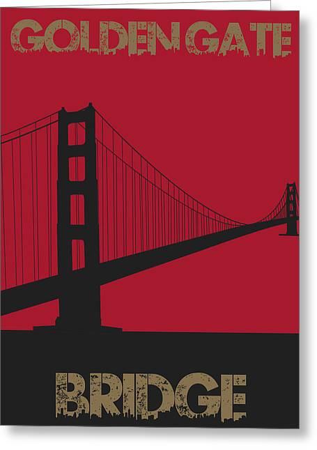 Golden Greeting Cards - Golden Gate Bridge Greeting Card by Joe Hamilton