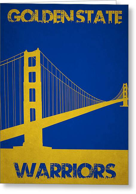 Division Greeting Cards - Golden State Warriors Greeting Card by Joe Hamilton