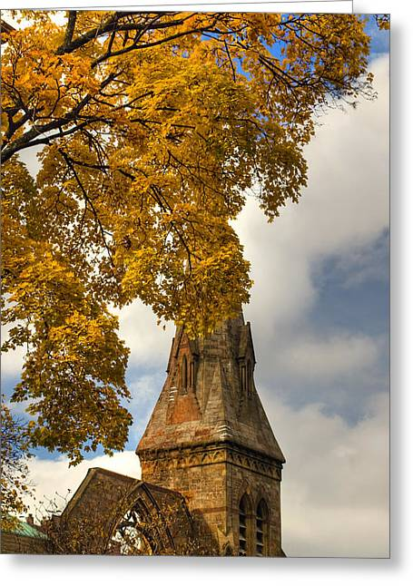 Golden Steeple Greeting Card by Joann Vitali
