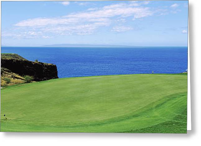 Ocean Photography Greeting Cards - Golf Course At The Oceanside, The Greeting Card by Panoramic Images