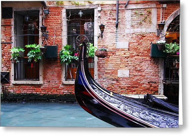 Gondolier Greeting Cards - Gondola In Venice Greeting Card by Mel Steinhauer