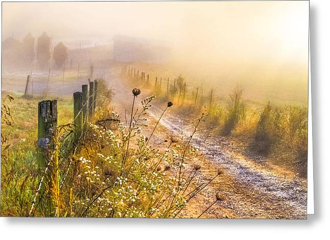 Good Morning Farm Greeting Card by Debra and Dave Vanderlaan
