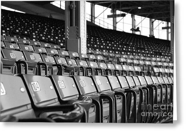 Wrigley Field Greeting Cards - Good seats available... Greeting Card by David Bearden