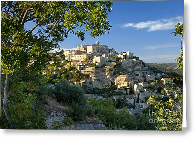 Provence Village Greeting Cards - Gordes Provence Greeting Card by Brian Jannsen