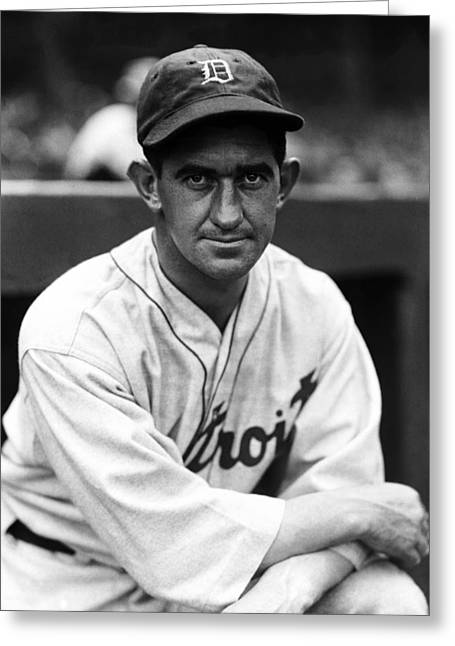 Manager Greeting Cards - Gordon S. Mickey Cochrane Greeting Card by Retro Images Archive