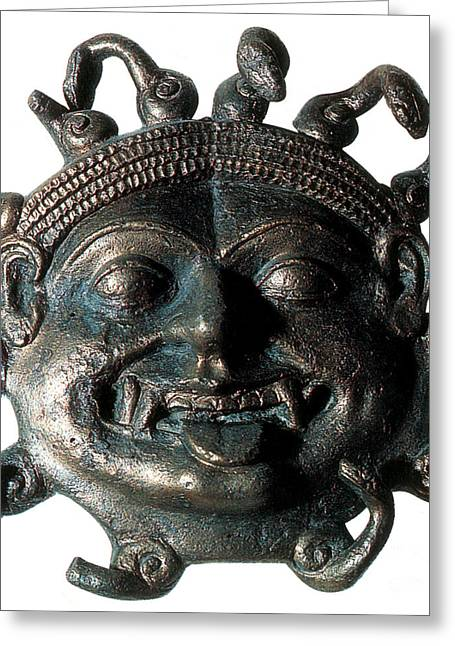 Greek Sculpture Greeting Cards - Gorgon, Legendary Creature Greeting Card by Photo Researchers