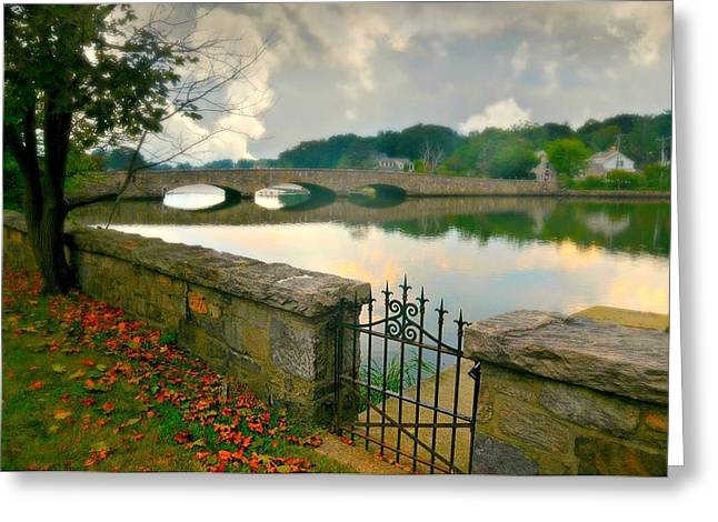 Early Autumn Greeting Cards - Gorhams Pond Greeting Card by Diana Angstadt
