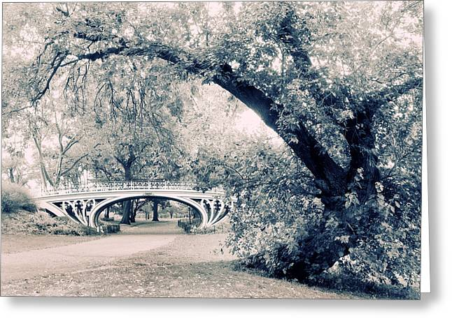Gothic Digital Greeting Cards - Gothic Bridge Greeting Card by Jessica Jenney
