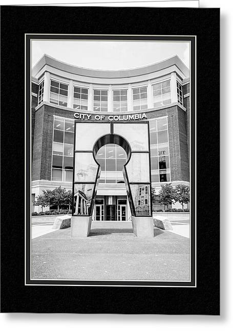 Matting Greeting Cards - Government Offices Columbia Missouri Greeting Card by Charles Feagans