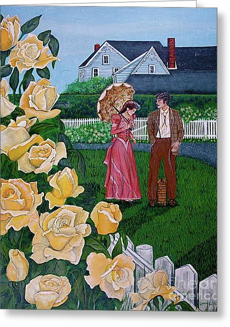Grace Under The Parasol Greeting Card by Linda Simon