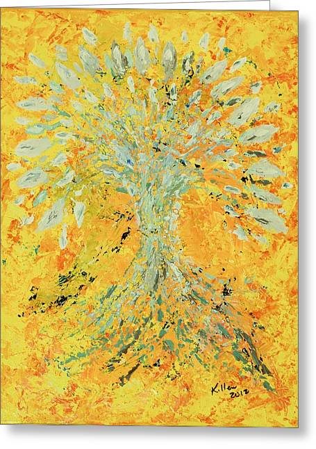 Recently Sold -  - Abstract Expression Greeting Cards - Grace Greeting Card by William Killen