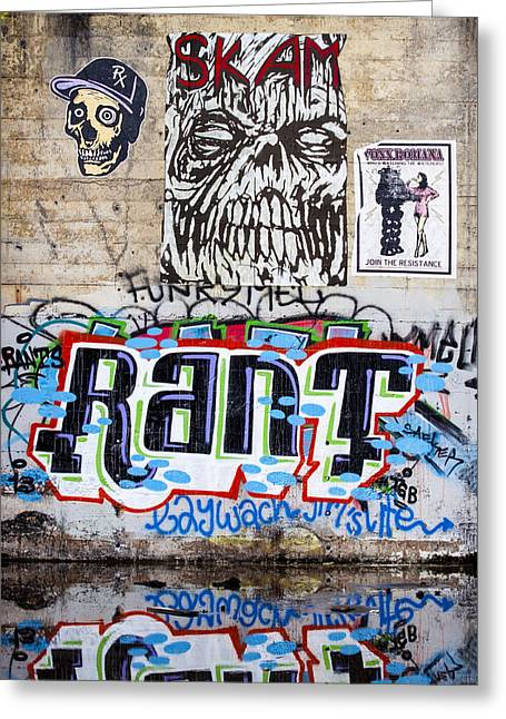 Graffiti Photographs Greeting Cards - Graffiti Greeting Card by Carol Leigh