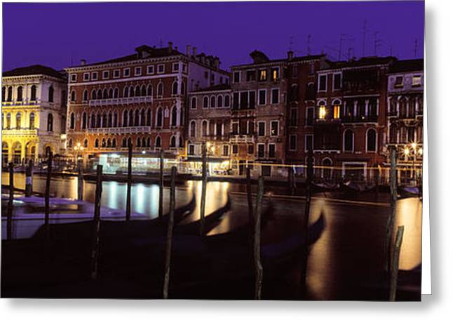 Colorful Photography Greeting Cards - Grand Canal Venice Italy Greeting Card by Panoramic Images