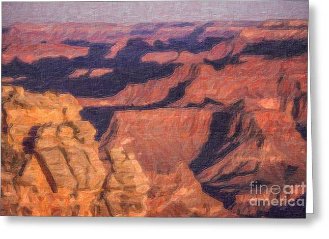 Geology Greeting Cards - Grand Canyon Sunrise Greeting Card by Liz Leyden