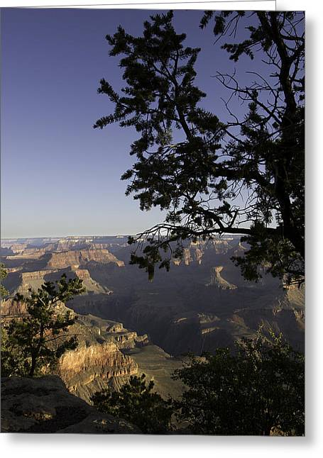 Outlook Greeting Cards - Grand Canyon view Greeting Card by Peter Lloyd