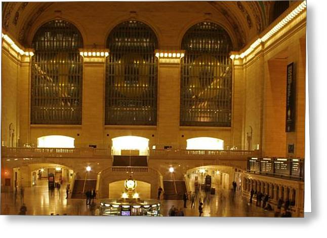 Business Movement Greeting Cards - Grand Central Station Greeting Card by Dan Sproul