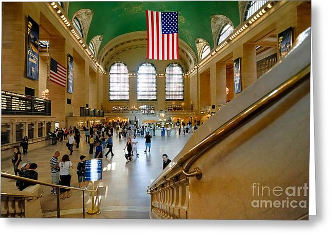 Public Transportation Greeting Cards - Grand Central Station New York city Greeting Card by Amy Cicconi