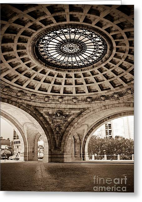 D200 Greeting Cards - Grand Rotunda Pennsylvanian PIttsburgh Greeting Card by Amy Cicconi