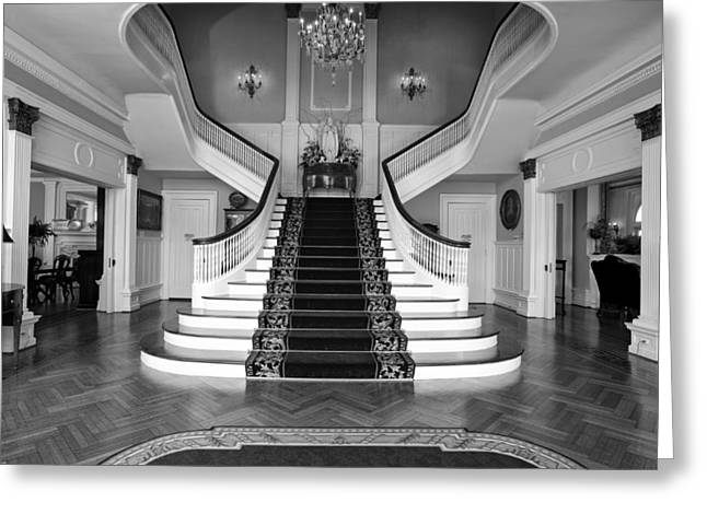 """""""hardwood Floor"""" Greeting Cards - Grand Staircase - Alabama Governors Mansion Greeting Card by Mountain Dreams"""