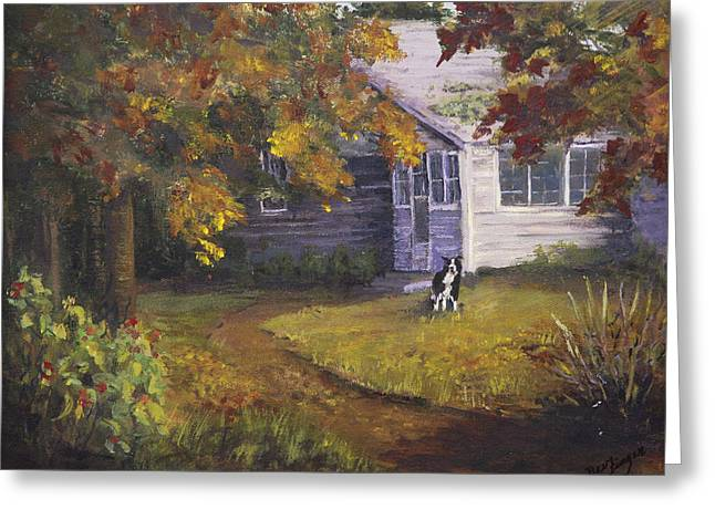 Indiana Autumn Greeting Cards - Grandmas House Greeting Card by Bev Finger