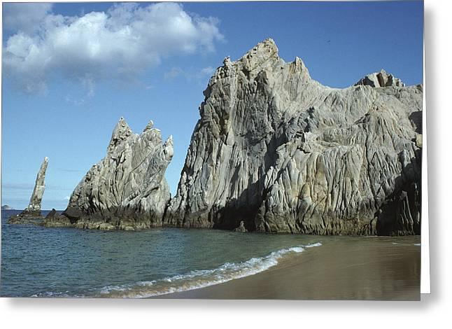 California Beaches Greeting Cards - Granite Outcrop Cabo San Lucas Mexico Greeting Card by Tui De Roy