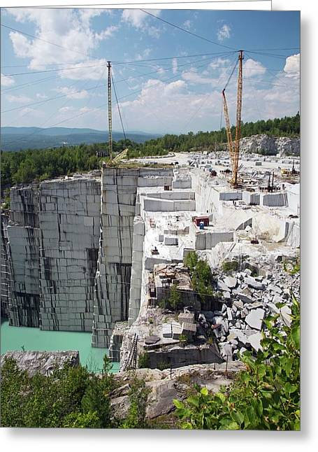 Granite Quarry Greeting Card by Jim West