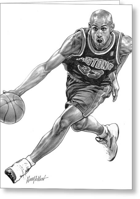 Photo-realism Greeting Cards - Grant Hill Greeting Card by Harry West