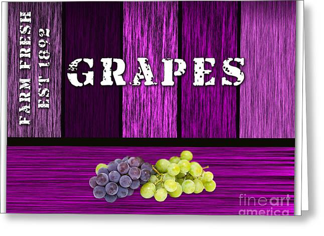 Blue Grapes Photographs Greeting Cards - Grape Farm Greeting Card by Marvin Blaine