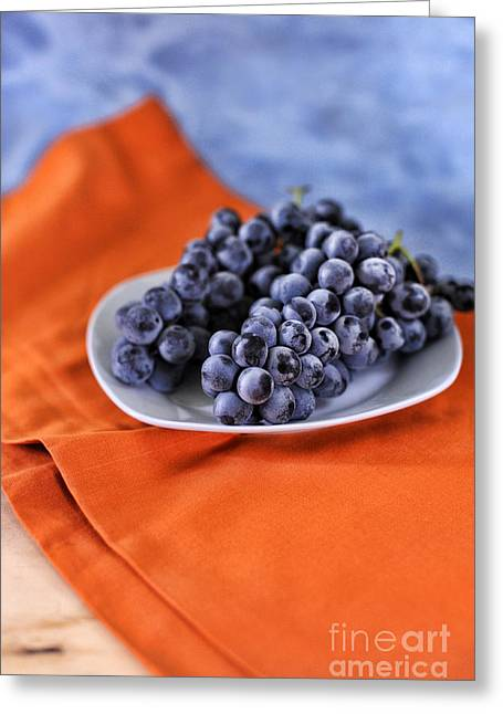 Blue Grapes Greeting Cards - Grapes Greeting Card by HD Connelly
