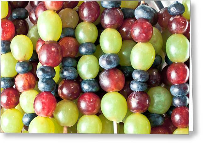 Black Berries Greeting Cards - Grapes Greeting Card by Tom Gowanlock