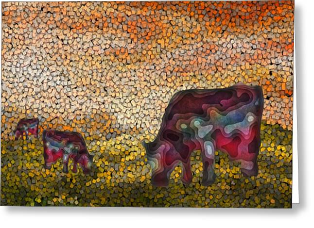 Installation Art Greeting Cards - Grazing  Greeting Card by Jack Zulli