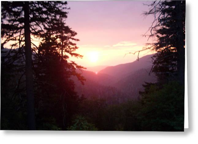Great Smokey Mountain Greeting Card by Celestial Images