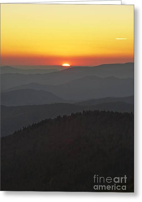 Smoky Greeting Cards - Great Smokie Mountains National Park Sunset Greeting Card by Dustin K Ryan