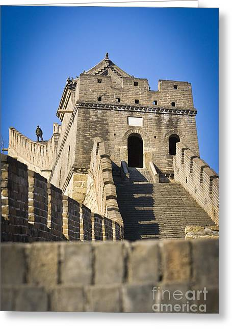 Surrounding Wall Greeting Cards - Great Wall Greeting Card by Juan  Silva
